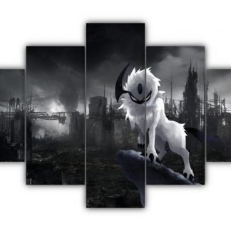 5 Panels Angry Absol Multi Canvas Art