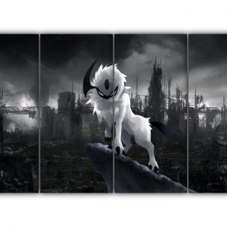 4 Panels Angry Absol Multi Canvas Art