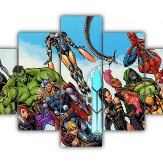5 Panels Avengers Multi Canvas Art
