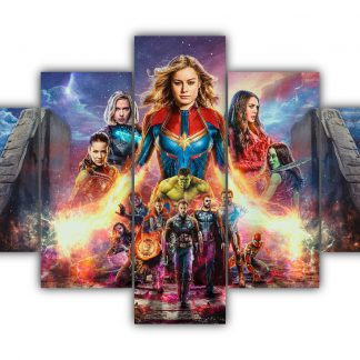 5 Panels Avengers End Game Multi Canvas Art