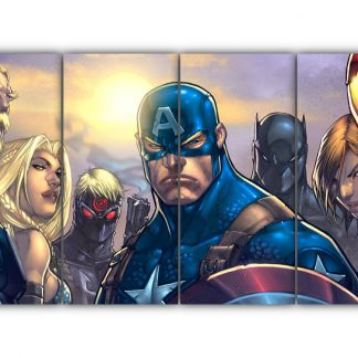4 Panels Avengers Ultimates Multi Canvas Art