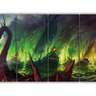 4 Panels Battle of Blackwater Multi Canvas Art