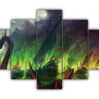 5 Panels Battle of Blackwater Multi Canvas Art