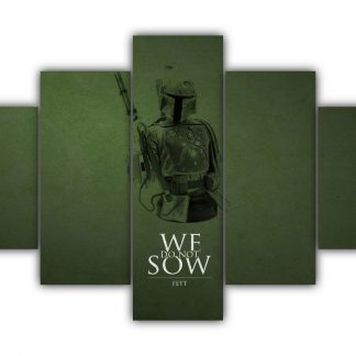 5 Panels Boba Fett Greyjoy Multi Canvas Art