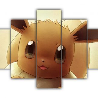 5 Panels Cute Eevee Multi Canvas Art