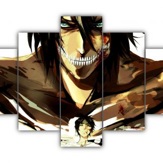 5 Panels Eren - Attack Titan Multi Canvas Art