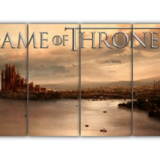 4 Panels Kings Landing Multi Canvas Art