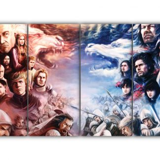 4 Panels Lannisters vs Starks Multi Canvas Art