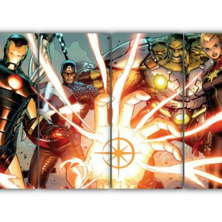 4 Panels Marvel Avengers Multi Canvas Art