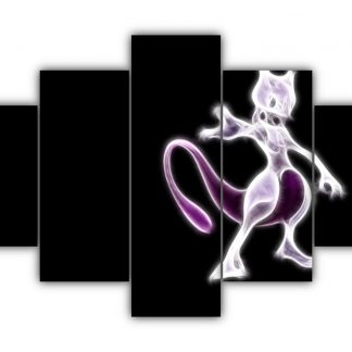 5 Panels Mewtwo Multi Canvas Art
