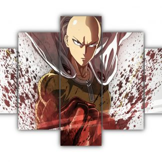 5 Panels Saitama Multi Canvas Art