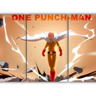 3 Panels Saitama Fan Art Multi Canvas Art