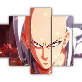5 Panels Saitama Punch Multi Canvas Art