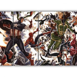 4 Panels Secret Wars Battleworld Multi Canvas Art