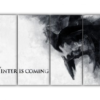4 Panels Winter Is Coming Multi Canvas Art