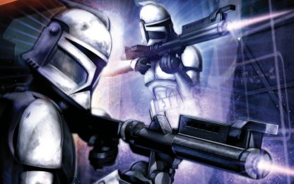1 Panel Clone Trooper shooting Multi Canvas Art
