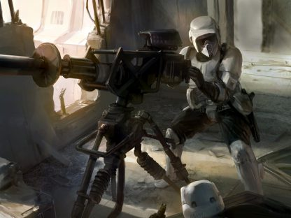 1 Panel Scout Troopers firing Multi Canvas Art