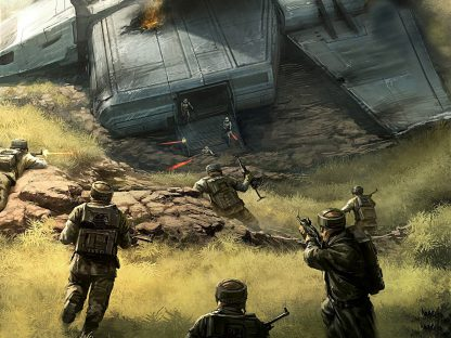 1 Panel Soldiers Attacking Multi Canvas Art