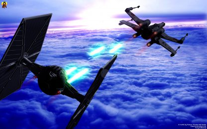 1 Panel Dogfight in Star Wars Multi Canvas Art