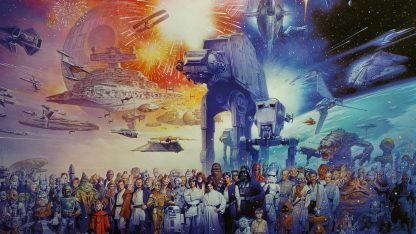 1 Panel The Star Wars world Multi Canvas Art