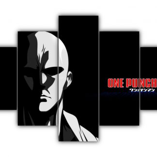 5 Panels Saitama Shadow Multi Canvas Art