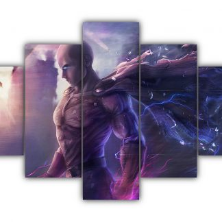 5 Panels Saitama Walking Multi Canvas Art