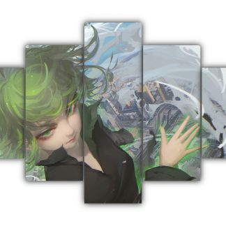 5 Panels Tatsumaki Multi Canvas Art