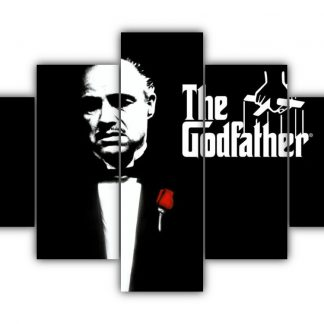 5 Panels The Godfather Multi Canvas Art