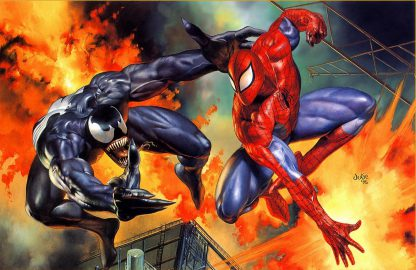 1 Panel Spiderman vs Venom Multi Canvas Art