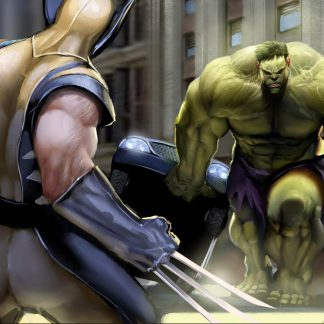 1 Panel Hulk vs Wolverine Multi Canvas Art