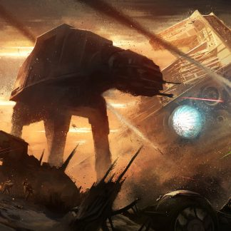 1 Panel Battle of Jakku Multi Canvas Art