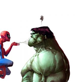 1 Panel Spiderman and Hulk Multi Canvas Art