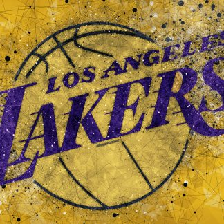 1 Panel LA Lakers logo Multi Canvas Art