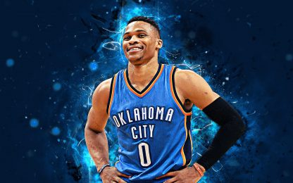 1 Panel Russell Westbrook Multi Canvas Art