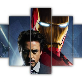 5 Panels Iron Man Multi Canvas Art
