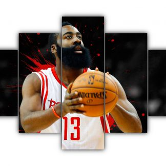 5 Panels James Edward Harden Jr Multi Canvas Art
