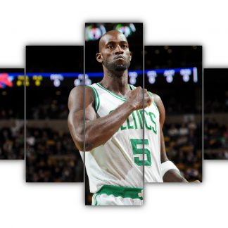 5 Panels Kevin Garnett Multi Canvas Art