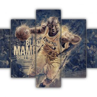5 Panels Kobe Bryant Multi Canvas Art