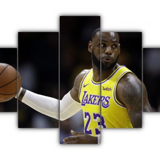 5 Panels LeBron James Multi Canvas Art
