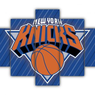 5 Panels New York Knicks Logo Multi Canvas Art