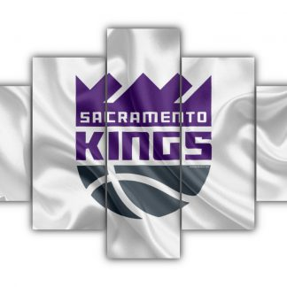 5 Panels Sacramento Kings Multi Canvas Art