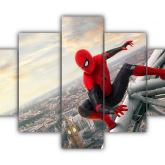 5 Panels Spiderman Far From Home Multi Canvas Art