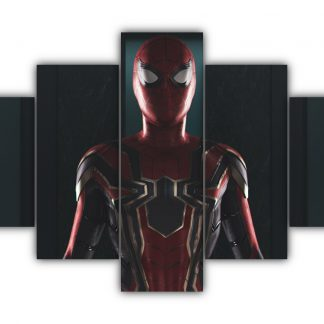 5 Panels Spirderman Homecoming Multi Canvas Art