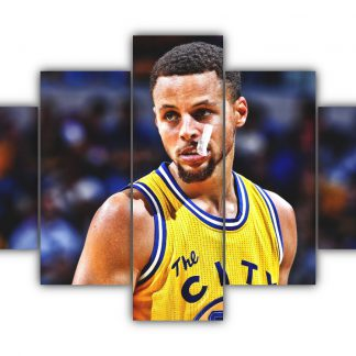 5 Panels Stephen Curry Multi Canvas Art