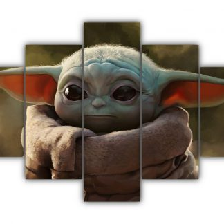 5 Panels Baby Jedi Multi Canvas Art