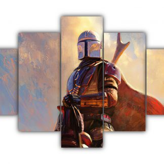 5 Panels Mando FanArt Multi Canvas Art