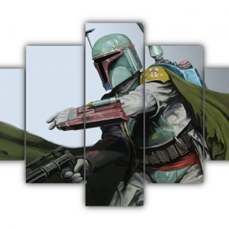 5 Panels The Legend Boba Fett Multi Canvas Art