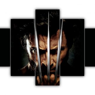 5 Panels Wolverine Claws Multi Canvas Art