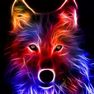 1 Panel Abstract Wolf Multi Canvas Art