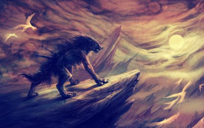 1 Panel The Wolf In Pain Multi Canvas Art